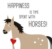 Serviette Happiness&Horses